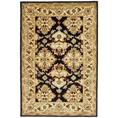 black and ivory area rugs safavieh heritage black ivory 5 ft x 8 ft area rug 7836
