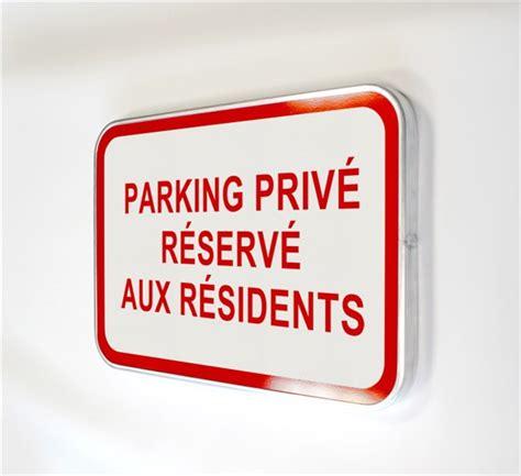 chevalet de bureau personnalisé panneau parking privé réservé aux résidents direct