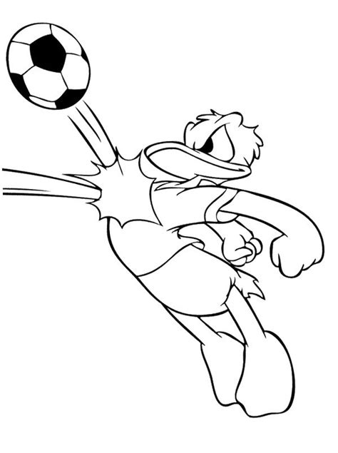 donald duck playing soccer coloring page soccer coloring