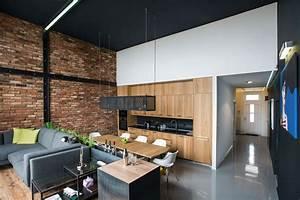 Modern, Loft, With, Surprising, Elements