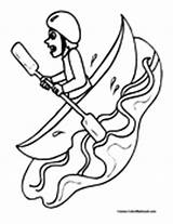 Kayak Coloring Canoe Pages Colormegood Canoekayak Sports sketch template
