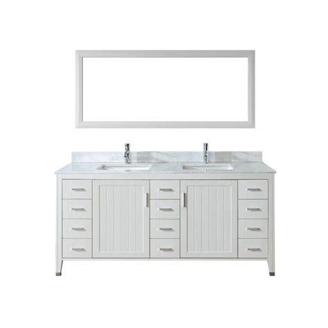studio bathe vanity studio bathe jackie 72 in vanity in white with marble