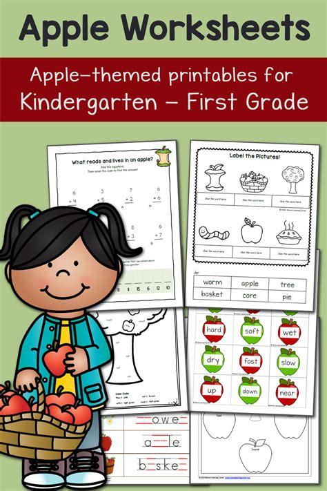 apple worksheets  kindergarten   grade mamas