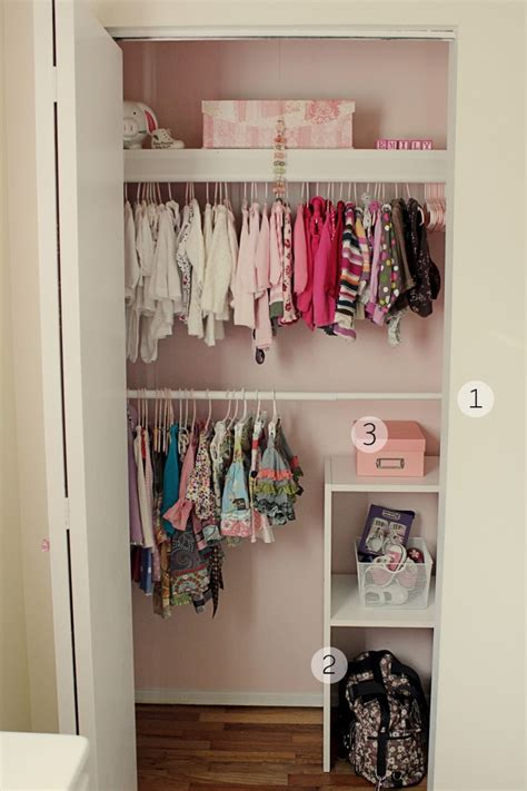 simple bedroom with small baby closet organization ideas