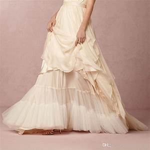 cascada wedding petticoat soft tulle floor length bridal With slip under wedding dress
