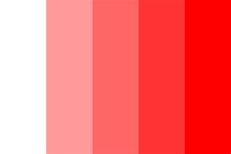 web safe shades  red color palette