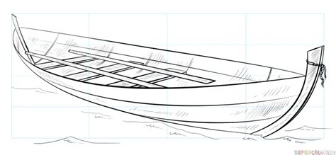 Drawing A Fishing Boat Step By Step by Boat Drawing Related Keywords Boat Drawing Long Tail