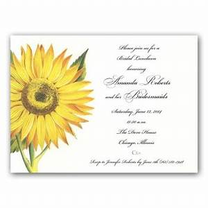 Business Luncheon Invitation Wording Sunflower Bridesmaids Luncheon Invitations Paperstyle