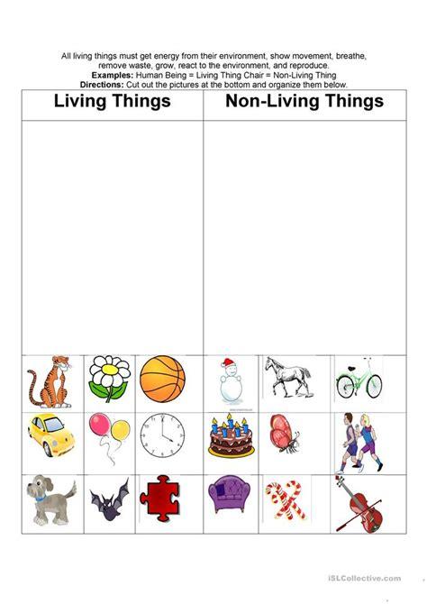 living nonliving things worksheet free esl printable