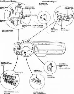 Where Is The Fuel Pump Relay Located At On The 1999 Honda