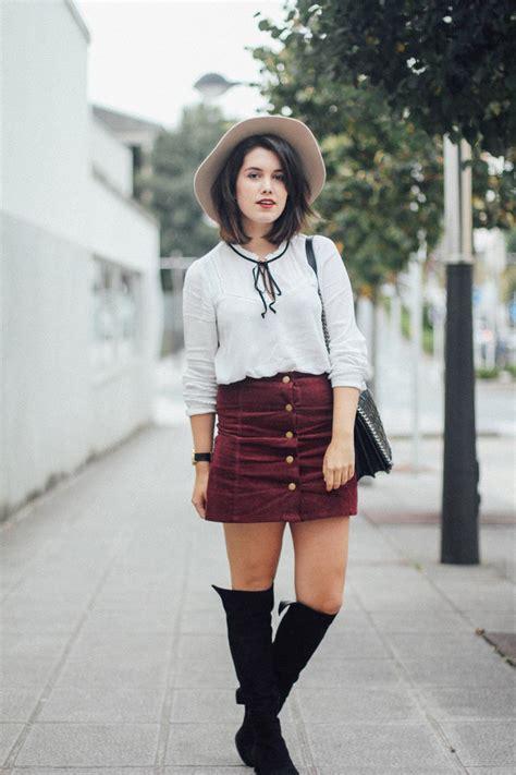 outfits  faldas de botones  curso de organizacion