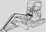 Coloring Excavator Digger Moving Sketch Craft Parts Elegant sketch template