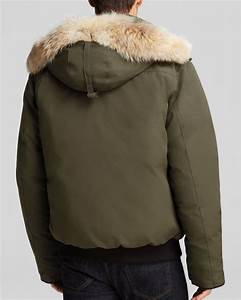 Canada Goose Borden Bomber Parka With Fur Hood In Green For Men Lyst