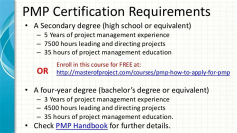 apply pmi pmp certification exam