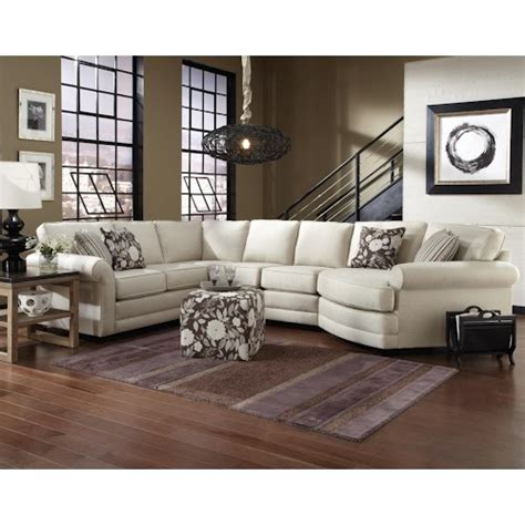 england brantley  seat sectional sofa  cuddler