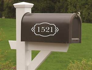 mailbox numbers vinyl decal set of two vinyl numbers curb With mailbox letters and numbers stickers