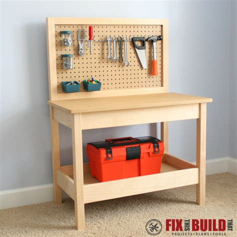 Boys Work Bench - white workbench diy projects