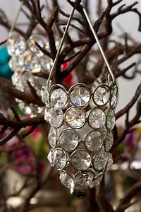 Hanging, Crystal, Candle, Holder, Silver, 3, 5in