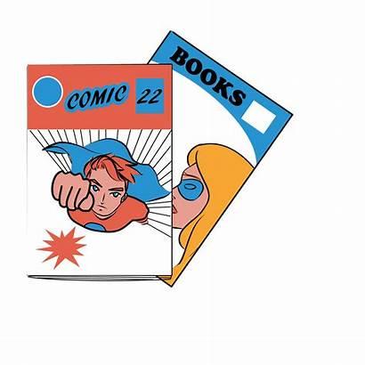 Comic Books Clipart Cartoon Varsity Clip Outs