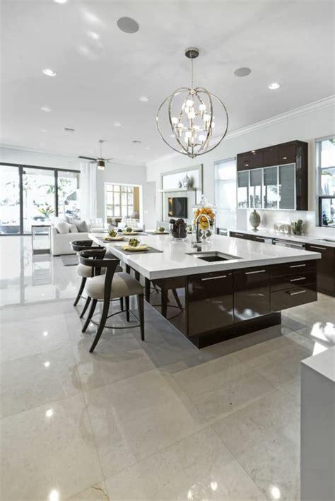 cuisine contemporaine avec ilot central la cuisine équipée avec ilot central 66 idées en photos