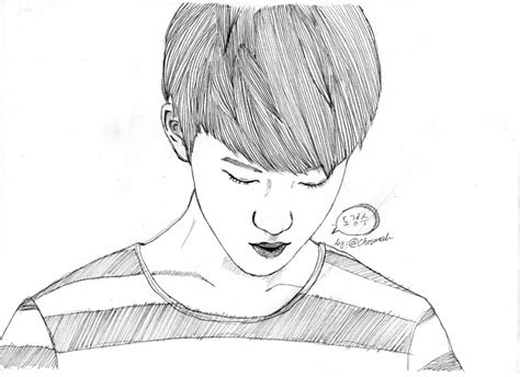 gallery easy anime drawing sketch do kyungsoo exo by puspaherning on deviantart