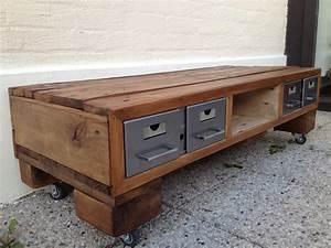comment construire un meuble tv avec des palettes la With construire un meuble de rangement