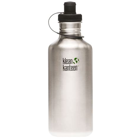 klean kanteen stainless steel water bottles  green head