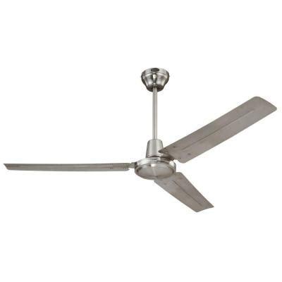 westinghouse industrial 56 in brushed nickel ceiling fan