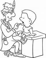 Coloring Clinic Medico Sick Teeth Colorir Medicine Posto Atendimento Boy Desenho Medical Coloringsun Eat Printable sketch template