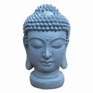 Statue De Bouddha : statue t te de bouddha zen gris d coration de jardin jardin jardin plein air gifi ~ Teatrodelosmanantiales.com Idées de Décoration