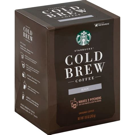 Available in black sweetened, black unsweetened, vanilla fig & cream and cocoa & honey with cream. Starbucks Black Cold Brew Ground Coffee - Shop Coffee at H-E-B