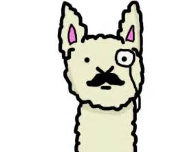 Cute Llama Cartoon Drawing