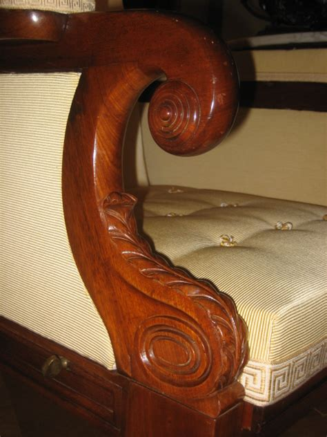 Antique Carved Mahogany Fancy Arm Antique Dealers Association Of America Carved Mahogany
