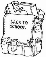 Coloring Backpack Pages Autumn Topcoloringpages Child Children sketch template