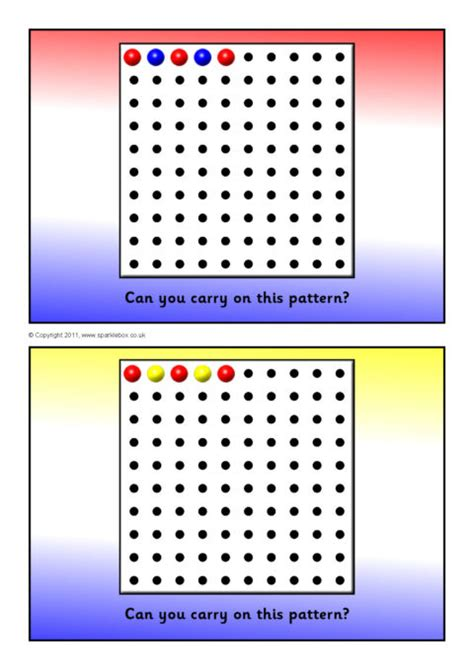 peg board pattern cards sb sparklebox