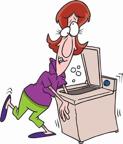 Washing Machine Broken Clip Clipart Woman Cartoon