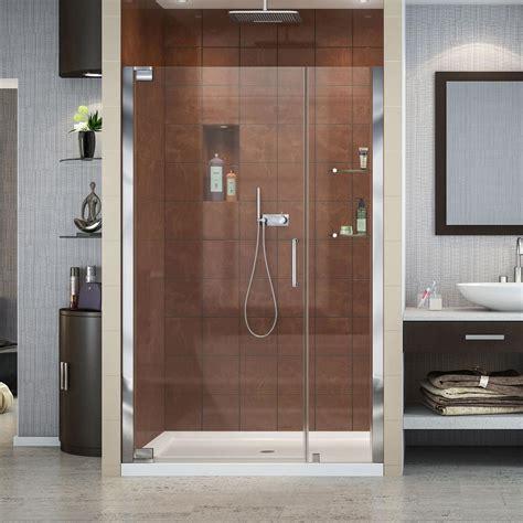 Home Depot Shower Door by Vigo Pirouette 48 In X 72 In Frameless Pivot Shower Door