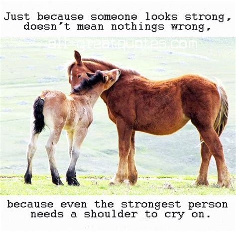 Just because someone looks strong, doesn't mean nothings