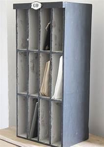 Casier Rangement Papier : ancien casier pour le rangement du courrier papier etc boite courrier pinterest ~ Teatrodelosmanantiales.com Idées de Décoration