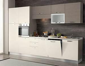 Cucina completa 330 cm completa di lavastoviglie colonna forno e pensile a vetro varie finiture
