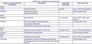 Asthma Classification And Treatment Chart Asthma Bronchial Asthma Causes And Triggers Of Asthma