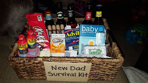 New Dad Survival Kit Snacks Candy 5 Hour Energy Beer