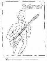Guitar Coloring Pages Player Zumba Drawing Electric Guitars Softball Printable Tennis Popular Getcolorings Coloringhome Getdrawings Acoustic sketch template