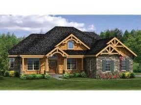 craftsman ranch with finished walkout basement hwbdo76439 craftsman from builderhouseplans com
