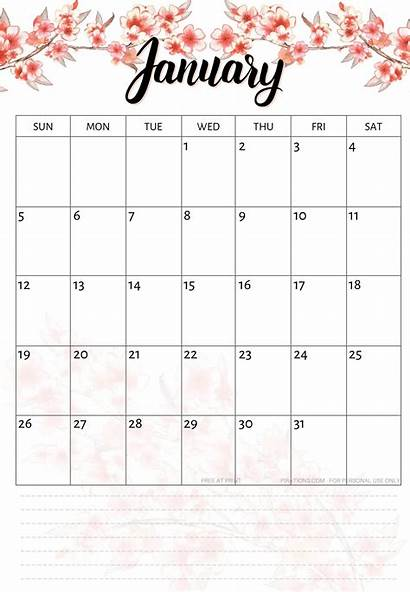 Calendar January Printable Word Template