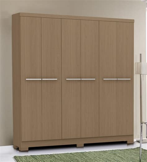 Where To Buy Wardrobes by Buy Six Door Wardrobe In Brown Finish By Primorati