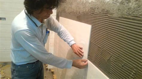 tile installation  brick wall process part  youtube