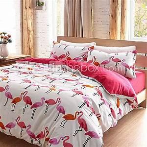 Parure De Lit Flamant Rose : flamingo duvet cover sets 100 cotton queen king flamingo fiesta pinterest parure de lit ~ Teatrodelosmanantiales.com Idées de Décoration