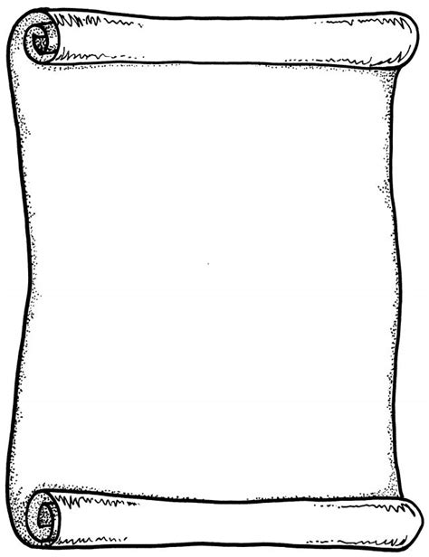 Blank Scroll Template Templates Clipart 8 Facile Imagine