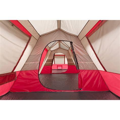 3 room cabin tent ozark trail 15 person 3 room split plan instant cabin tent